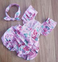 Dusty Rose Pucker Romper